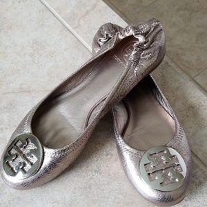 Tory Burch Reva Flats Silver Luna / Pewter